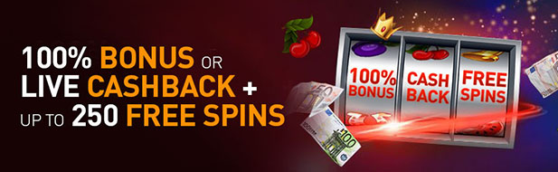 Choose your gift: €777 bonus or cashback