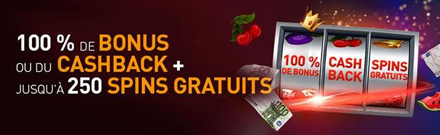 Choisissez votre cadeau : 777 € de bonus ou du cashback